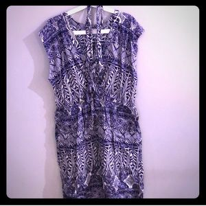 Forever 21 blue and white brunch dress plus size